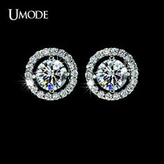 Cubic Zirconia Earrings, Wedding Earrings, CZ Stud Earrings, CZ Earrings Diamond This beautiful CZ stud earrings is individually handcrafted with sparkling carat cubic zirconia and small CZ pave setting on the side.