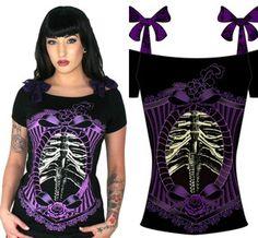 Too Fast Gothic Punk Emo Rockabilly Annabel Skeleton Pin Up Zombie Skull Shirt | eBay
