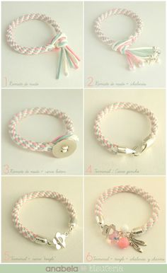 How to make an end loop before starting a kumihimo braid Kumihimo Bracelet, Bracelet Knots, Braided Bracelets, Paracord Bracelets, Friendship Bracelets, Rope Jewelry, Macrame Jewelry, Macrame Bracelets, Jewelry Crafts