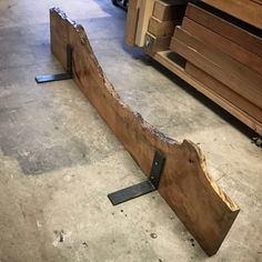 Maple live edge shelf / mantel by Bolt Woodworks Live Edge Furniture, Rustic Furniture, Diy Furniture, Reclaimed Wood Furniture, Modern Furniture, Custom Woodworking, Woodworking Plans, Woodworking Projects, Woodworking Furniture