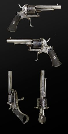 GOOD 7MM, 6 SHOT LEFAUCHAUX SYSTEM REVOLVER WITH HIGH QUALITY FINISH - sold…