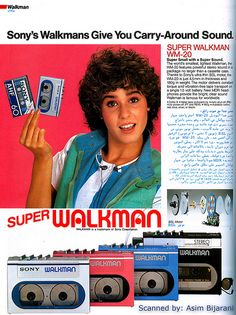 80's Sony Walkman: I can't believe I ACTUALLY thought this fashion was cool....