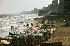 The Alexandria coastline in the early Modern Egypt, Alexandria Egypt, Old Egypt, Its A Wonderful Life, Rare Photos, Cairo, Historical Photos, Egyptian, New York Skyline