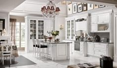 Kitchen cabinets in white - a bright and modern kitchen design! Kitchen Cabinet Styles, Kitchen Cabinet Remodel, White Kitchen Cabinets, Shabby Chic Kitchen, Kitchen Decor, Kitchen Nook, Kitchen Ideas, Traditional Kitchen Backsplash, Quartz Kitchen Countertops