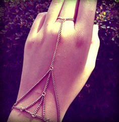 Recycled GoldPlated Metal Triangle Web Chain Slave by hungryeyes, $13.00