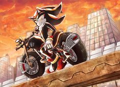 Commission for Shadow on his motorcycle Commission Dark Rider Shadow The Hedgehog, Silver The Hedgehog, Sonic The Hedgehog, Shadow And Rouge, Nerf, Shadow And Maria, Shadow Pictures, Sonic Franchise, Sonic And Shadow