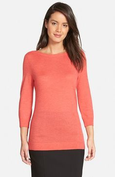 Free shipping and returns on Nordstrom Collection Bateau Neck Cashmere Sweater at Nordstrom.com. Sumptuously soft cashmere shapes the silhouette of an elegantly simple pullover fashioned with a collarbone-grazing neckline and three-quarter sleeves.