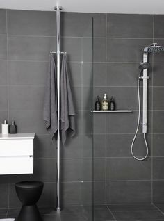 Floor to Ceiling Pole Heated Towel Rail by Hydrotherm