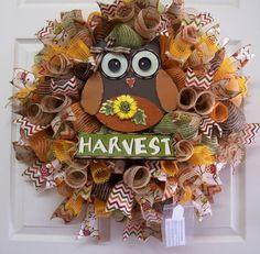 Fall Mesh Wreath,Burlap Fall Wreath,Harvest Door Wreath,Welcome Mesh… Thanksgiving Mesh Wreath, Fall Mesh Wreaths, Diy Fall Wreath, Autumn Wreaths, Wreath Crafts, Thanksgiving Crafts, Deco Mesh Wreaths, Holiday Wreaths, Fall Crafts