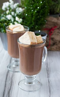 What's better than hot chocolate? Okay, that is sort of a trick question because nothing is really better than hot chocolate. But I've taken my recipe for the very best hot chocolate in the world and added gingerbread spice and spiced rum. I think it's ev Hot Cocoa Recipe, Cocoa Recipes, Hot Chocolate Recipes, My Recipes, Dessert Recipes, Favorite Recipes, Free Recipes, Drink Recipes, Appetizer Recipes