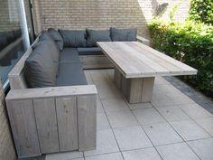 Outdoor Sofa, Bar Outdoor, Outdoor Dining Set, Outdoor Seating, Outdoor Living, Outdoor Decor, Wooden Garden Benches, Pallet Garden Furniture, Diy Outdoor Furniture