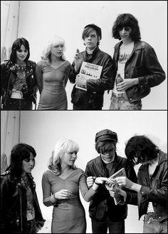 Joan Jett, Debbie Harry, David Johansen & Joey Ramone. Mind if I squeeze myself in there, fellas?