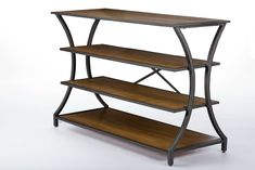 Baxton Studio Lancashire Brown Wood & Metal Console Table