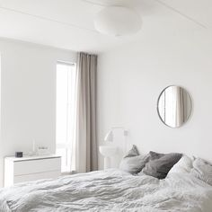 I love waking up in this light and bright bedroom. The mirror makes it look a little bit bigger. I have a busy day ahead of me. What are you doing today?