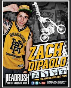 Zach DiPaolo. Freestyle Motocross. Team HEADRUSH. Extreme Sports