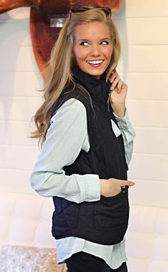 solid choice vest - navy