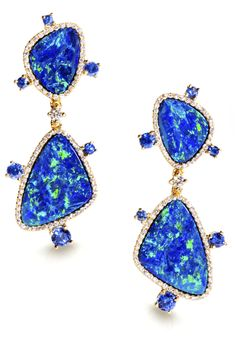 elaborate #opal earrings