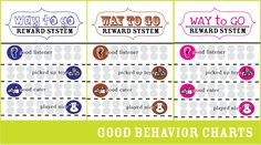 Way to Go Reward Chart ~ A free printable chore chart for toddler age children.