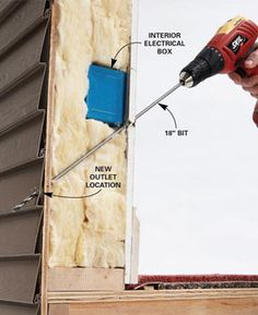How to Add an Outdoor Outlet  Add an outdoor electrical outlet to get power to where you need it, especially for holiday lights. Do it safely and easily with this simple through-the-wall technique.