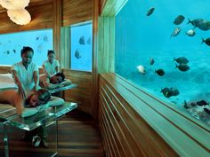 Set in the Indian Ocean, this resort spa offers panoramic reef views for couples treatments. Guests also have access to the spa's saltwater flotation pool, filled with mineral-laden water from the ocean just through the window panes.   Related: The Most Tranquil Spas in the World