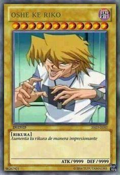 Resultado de imagen para cartas de yugioh memes anime
