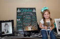 Chic Birthday Chalkboard, Diamond, Pearls, Tiffanys TIFFCHALK0520 First Birthday Posters, Third Birthday, Tiffany Party, Chalkboard Poster, Birthday Chalkboard, Party Printables, Best Part Of Me, Special Events, First Birthdays