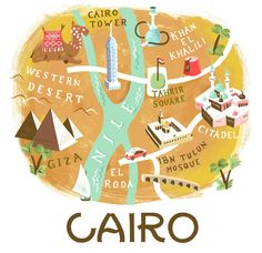 maps on Behance Watercolor Journal, Travel Illustration, Information Graphics, Cairo, School Projects, Diy Art, Cover Design, Behance, Map Illustrations