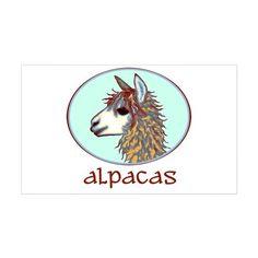 alpaca annies Rectangle Decal on CafePress.com