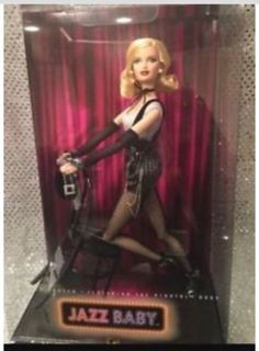 2007 Jazz Baby Cabaret Dancer Barbie Doll - Blond - articulated legs and arms