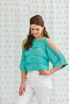 Crochet Blouse 91017 Beautiful crochet blouse with arm slits Black Crochet Dress, Crochet Poncho, Crochet Cardigan, Crochet Stitches, Crochet Patterns, Mode Crochet, Crochet Summer Tops, Beautiful Crochet, Crochet Clothes
