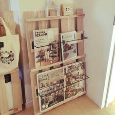 すのこ/本棚DIY/すのこリメイク/セリア/棚のインテリア実例 - 2015-02-04 13:36:08 | RoomClip(ルームクリップ)