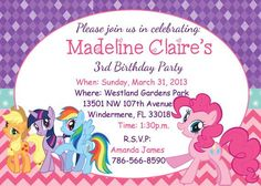 Free my little pony birthday party invitations free baby shower my little pony birthday party invitation wording ideas filmwisefo Images