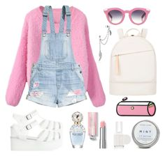 """""""crybaby - melanie martinez"""" by omgmarissa ❤ liked on Polyvore featuring H&M, VIVETTA, Want Les Essentiels de la Vie, Marc Jacobs, Essie and Bling Jewelry"""