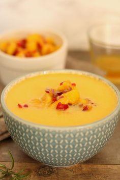 Thermoprzepisy. Zupa z dyni z salsą mango.