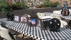 fifties Table Decorations Centerpieces | LOVED Doris Day so I made a little drive-in movie.