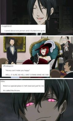 Black Butler Text Posts