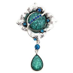 Blue Wedding Flower Crystal Brooch and Pendant *** You can get additional details at the image link. (This is an affiliate link) #BroochesandPins