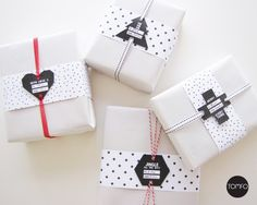 Black Christmas shaped gift cards!