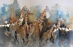 Karen Laurence Rowe - Conservation Artist Gold Watercolor, Watercolor Animals, Watercolor Paintings, Original Paintings, Watercolours, Watercolor Techniques, Acrylic Paintings, Wildlife Paintings, Wildlife Art