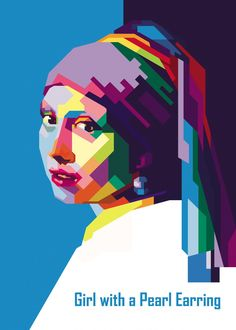 Girl with a pearl earring in WPAP by IcalSaid Abstract Portrait, Portrait Art, Girl With Pearl Earring, Pearl Earing, Sketch Manga, Pop Art Portraits, Famous Artwork, Arte Popular, Portrait Illustration