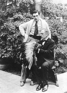 Gary Cooper with his father Charles
