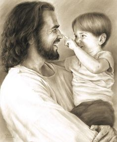 Innocence Wall Art Print Jesus Christ Holding Child by David Bowman Religious Spiritual Christian Fine Art Images Du Christ, Pictures Of Jesus Christ, Jesus Love Images, Jesus Pics, Jesus Laughing, Laughing Jesus Picture, Jesus Smiling, Image Jesus, Jesus Drawings