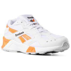 5ce673226aa Reebok Shoes Unisex Aztrek in White Black Solar Orange Size M 5   W 6.5 -  Retro Running Shoes