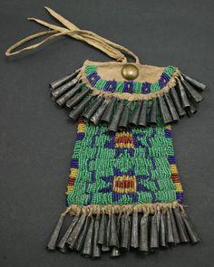 Arapaho beaded pouch circa