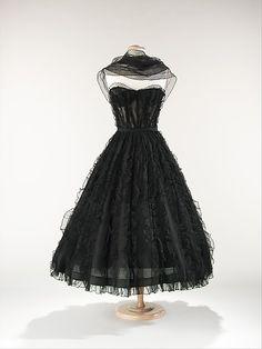 "House of Chanel  (Designer:Gabrielle ""Coco"" Chanel )Date:ca. 1957"