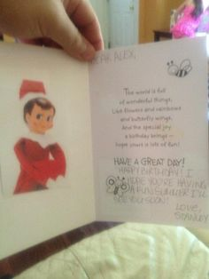 elf on the shelf birthday card