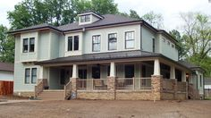 House featuring HardiePlank Siding in Light Mist and Navajo Beige Trim