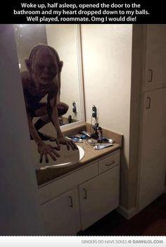OH MY GOD. I am SO afraid of Gollum!! I would DIE.