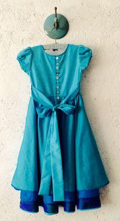Xai layered  silk dress - back