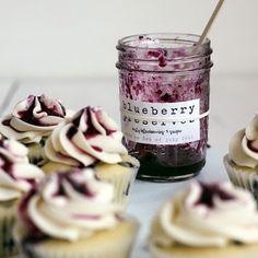 Blueberry preserve cupcakes #notmine #jam #blueberry #cupcakes #sweet #yummy #dessert